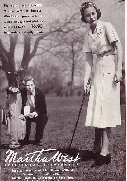 Throughout The 1930s And 40s Golf Dresses Pretty Much Followed Fashionable Lines Unlike Tennis Where Skirt Became Very Short Lenght Of