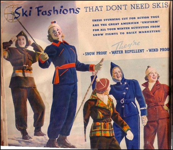 wool ski suits from the fall/winter 1937-38 Montgomery Wards (via Fuzzylizzie.com)