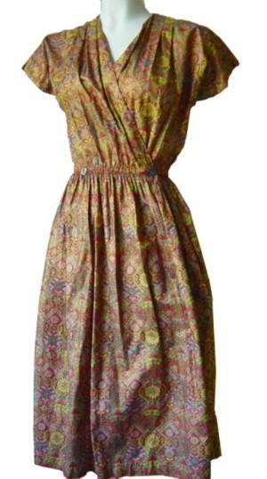 Swirl Wrap Dress- Fuzzylizzie Vintage