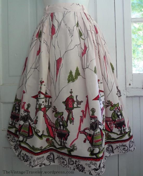 Novelty Print Skirt – An Alpine Holiday | The Vintage Traveler
